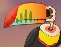 Toucan/Skull