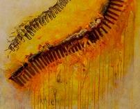 Rusted Bones On An Orange Shore