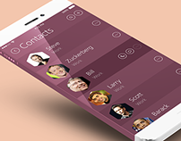 Concept address book in iOS 8