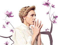 """Poster for Aarhus Theatre, """"The Cherry Orchard"""""""