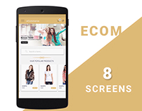 Ecommerce screen