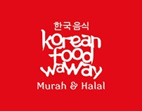 korean food waway logo and promotions