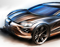 Concept car rendering project