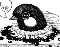 Birdie baked in a pie