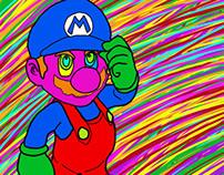 Psychedelic Mario