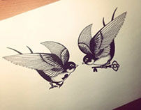 Swallows Tattoo. my work,my sketch