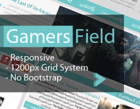 Gamers Field Flat Design Website