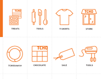 TCHO Newsletter + Website Icons