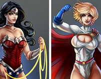 PowerGirl and Wonder Woman Trinquette Challenge