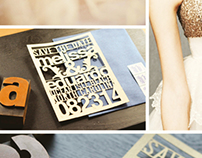 Save The Date, Laser Cut Typography