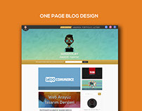 One Page Blog Design