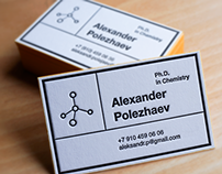Business card for chemist