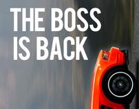 Mustang Boss Advertising