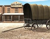 3D Western Scene
