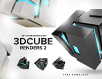 Stylish 3D Cubes Pack 2 by DesignerCandies.net