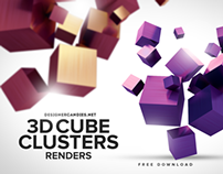 A clean cut selection of free 3D cube clusters