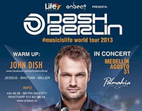 Flyer y Poster, Dash Berlin.