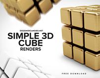 Simple Cube Renders