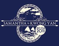 Wedding logo - Samantha & Kwong Yan