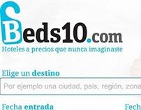 Logotipo y Diseño Web para el portal de Beds10