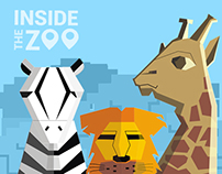 Inside The Zoo – Location Finder iPhone App Free PSD
