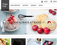 FINGER FOOD – Food always at hand – website concept