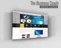 The Business Coach website mockup