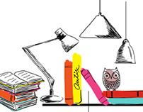 Bookshelf print & pattern