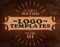 Simple Retro Logo Templates v.1