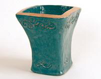 Clay Slab Vase