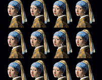 "Tribute to Vermeer ""Girl with a Pearl Earring"""