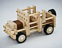 Wooden constructor for children