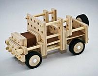Wooden constructor for children