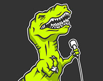 D-Stones Jurassic Rock Band Digital Print