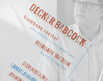 Decker Babcock - Junior Recital Poster