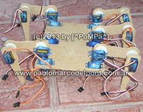 Robot araña con motores servo
