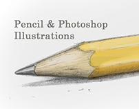 Pencil & Photoshop Illustrations