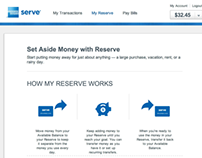 Amex Serve Reserve Site Experience