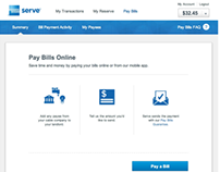 Amex Serve Pay Bills Site Experience