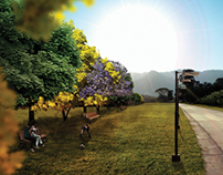 Fotomontaje - Parque Lineal El Nogal
