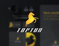 Rebranding for toptun - car industry