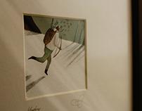 Hunter - Signed & Framed Original Illustration for Sale