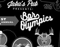 Poster / T-Shirts - Bar Olympics, Jabu's Pub