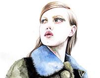 Lindsey Wixson for Prada spring 2014