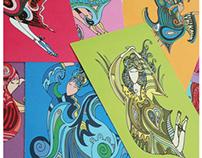 Astrology Dancers Postcards