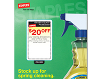 Staples Cleaning Direct Mail Piece