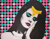 Pop art Lana Del Ray