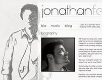 JonathanFerguson.ca Website Design