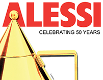 Cover Design- Alessi 50th Anniversary Catalog