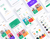 Worka Handyman Home Services Mobile App UI